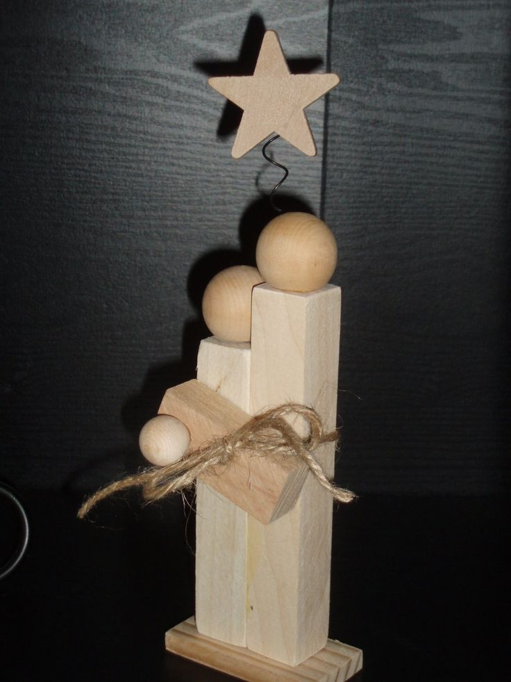Wood Scrap Mary, Joseph & Baby Jesus, Christmas Crafts (Sorry, no link)