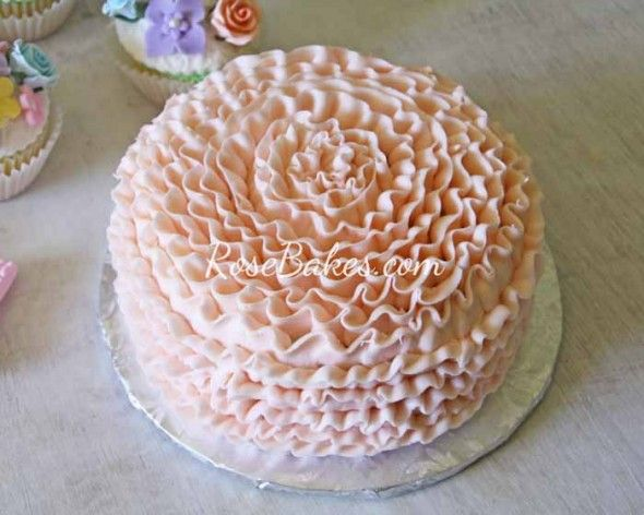 Vintage Fairy Garden Party : Cake, Cucpakes, Smash Cake, Cookies, Cake Pops and more!    Peach Ruffles Smash Cake