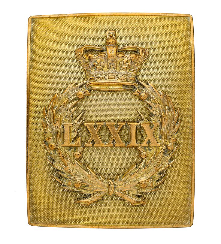 British; 79th Regiment of Foot (Cameron Highlanders), Officer's Shoulder Belt Plate, pre 1881