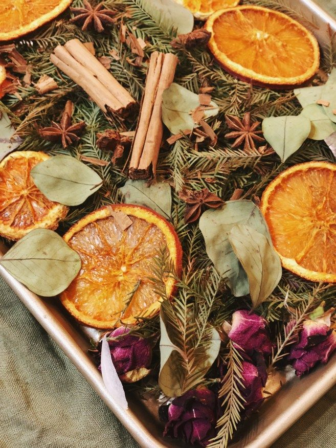 Orange Cinnamon Eucalyptus potpourri recipe!