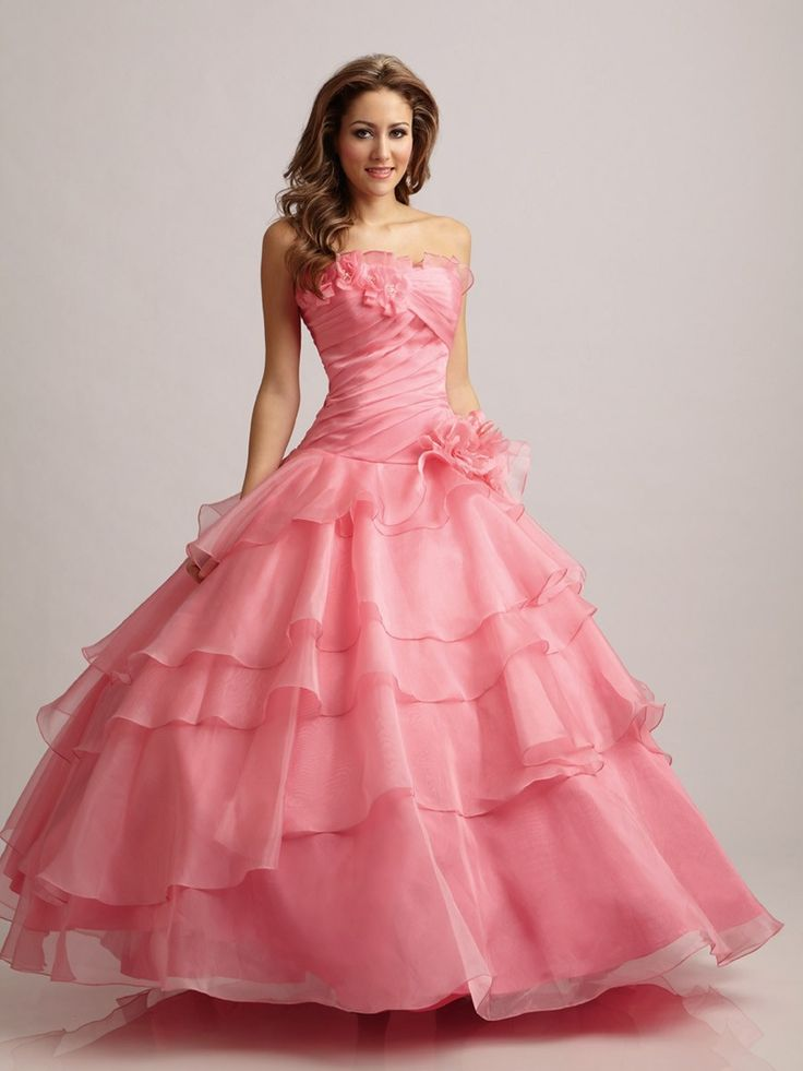 201 best Vestidos de baile largos images on Pinterest | Xv dresses ...