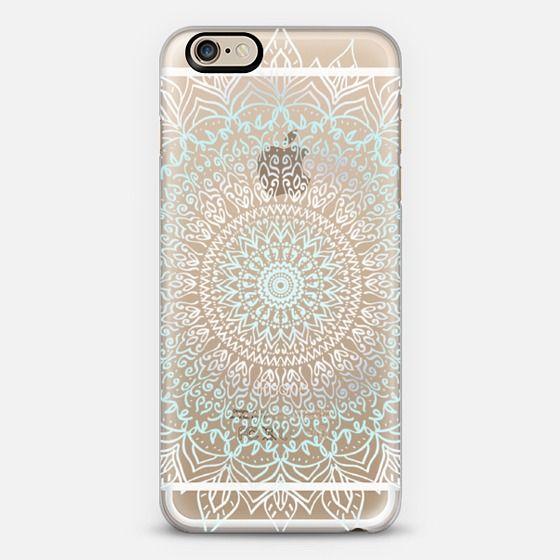 BOHO MANDALA - TEAL AND WHITE PHONE CASE - Classic Snap Case by Nika Martinez   @casetify