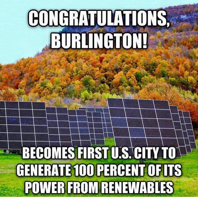 Burlington, Vermont. Bernie Sanders helped make this happen!