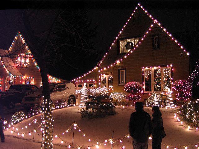 Peacock Lane in Portland, Oregon has the best Christmas lights display.