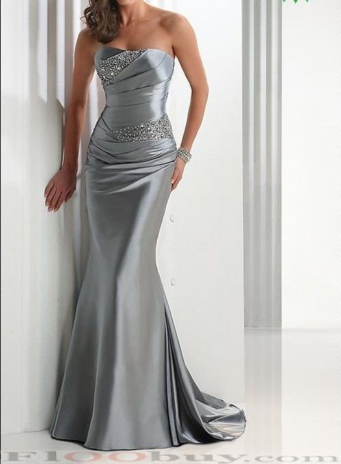Mermaid strapless floor length evening dress 7 colors