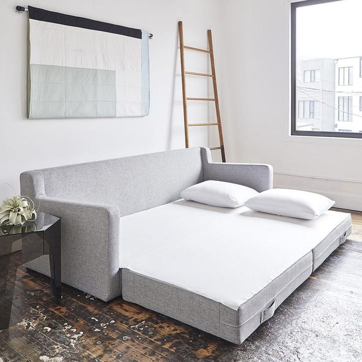 In spaces large or small, the Gus Modern Flipside Sofabed is comfortable, convenient and contemporary. It is plushly upholstered, with loose-back cushions that are actually filled with eco-friendly synthetic down (taken from recycled water bottles).