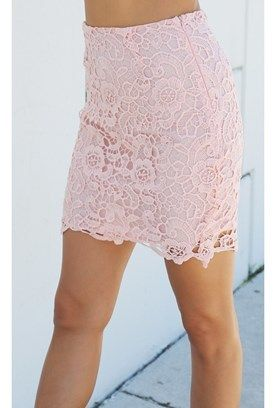 Concrete Runway Pretty In Pink Lace Skirt.