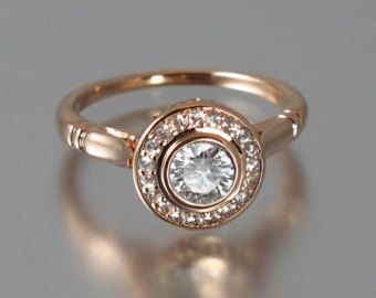 halo ring, gold, sapphire