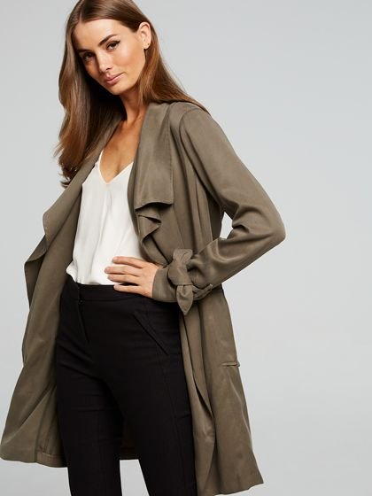 Switched On Soft Trench Coat
