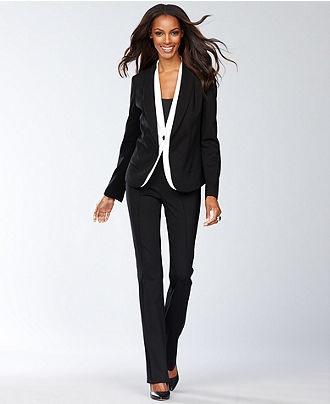 INC International Concepts Colorblock Tuxedo Jacket & Bootcut Faux-Leather Tuxedo Pants - Womens Tuxedo Luxe - Macy's