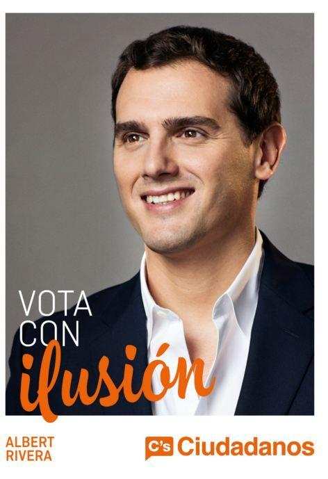 Cartel Albert Rivera, Ciudadanos, elecciones generales diciembre 2015