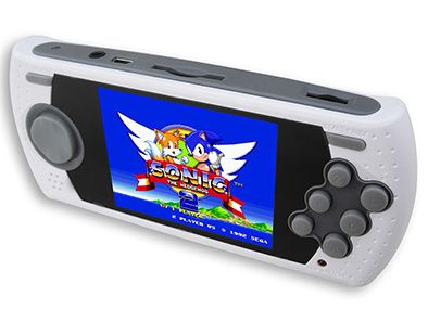 Make your next long car ride a trip down memory lane with the awesome Sega Genesis Ultimate Portable Game Player! It comes pre-loaded with 80 classic 16-bit titles including the Sonic the Hedgehog series, Mortal Kombat and more!
