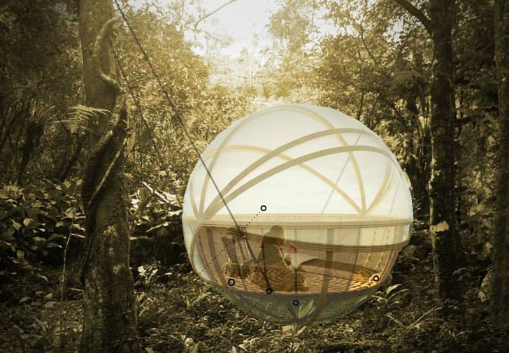 Hanging spherical lodges keep eco-tourists comfy and dry in Laos / The Green Life <3