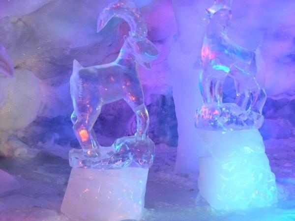 Sculture di ghiaccio sul Piccolo Cervino su www.degustiblog.it