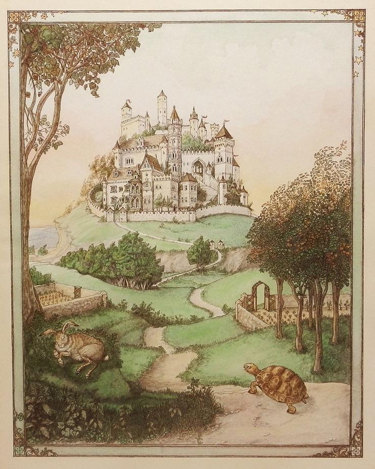 Vintage Fairy Tale Print, Tortoise & the Hare, $8.00, via earlybirdsale (Etsy).