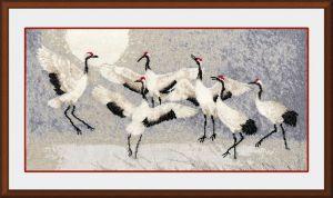 "Cross-stitch kit Zolotoe Runo ""The dance of the cranes"""