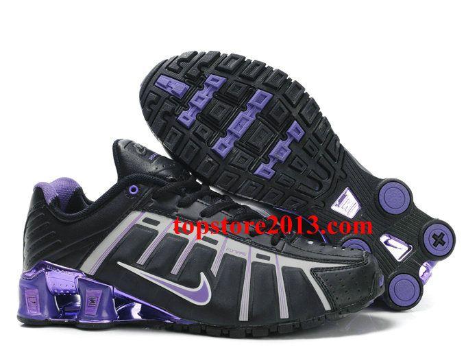 Wholesale Nike Shox NZ 3rd III Third Women Black Purple Running Shoes
