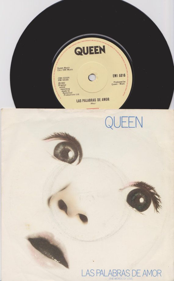 Hey, I found this really awesome Etsy listing at https://www.etsy.com/uk/listing/214229582/queen-las-palabras-de-amor-1982-uk-issue