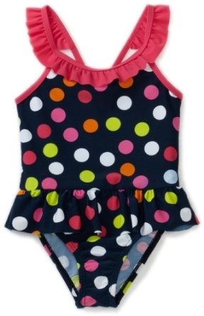 Osh Kosh Toddler Girls Toddler 1 Piece Polka Dot Swimsuit $19.20