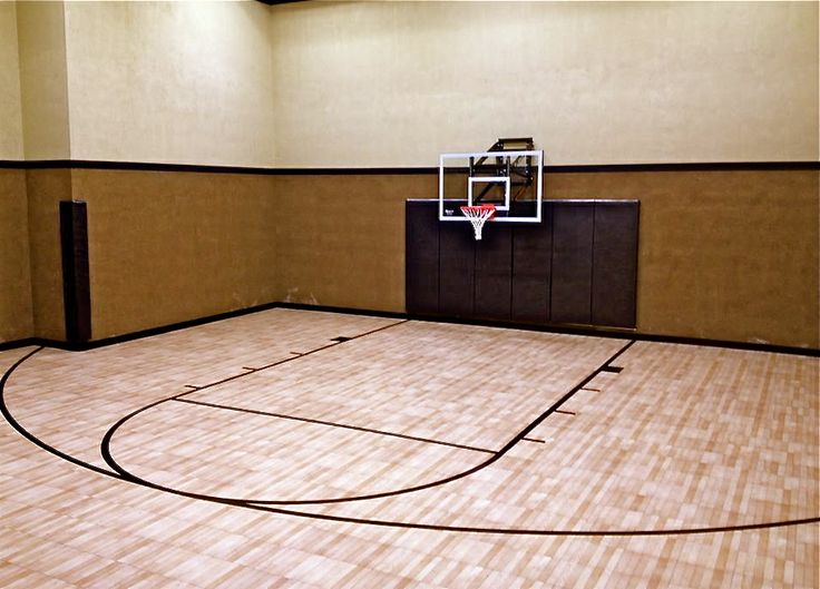 Very nice residential indoor for Home indoor basketball court cost