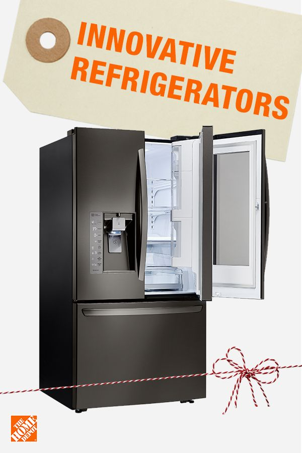 Upgrade your refrigerator this season and take advantage of great prices and brand new innovation. Sneak a peek at what's inside while keeping things cool with tap-to-view tech or use the door-in-door to easily grab and go. This refrigerator is the ultimate holiday entertainer, perfect for hosting big meals and parties. Whether you're shopping online or in store, find the best appliance brands at the best prices at The Home Depot.