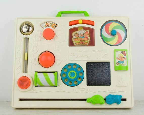 Vintage  Fisher Price Activity center  1970s by CrystalBlueVintage, $10.95