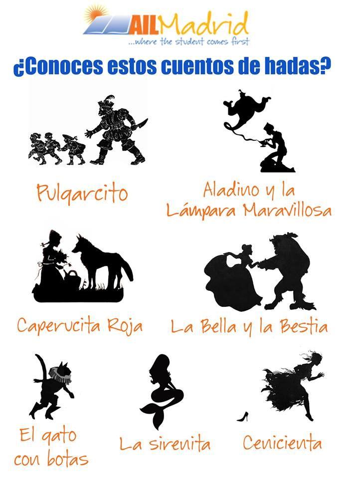 Spanish vocabulary - ¿Conoces estos cuentos de hadas? / Do you know these fairy tales?