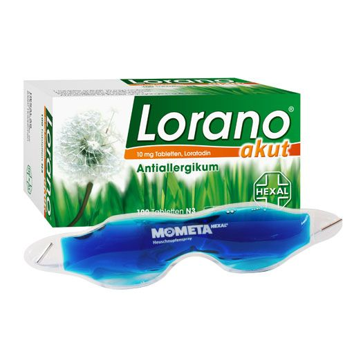 Lorano akut führt innerhalb einer Stunde nach der Einnahme zu einer Linderung der allergischen Symptome und macht dabei nicht müde. • Stoppt den allergischen Schnupfen • Lindert schnell den Juckreiz • Wirkt langanhaltend abschwellend
