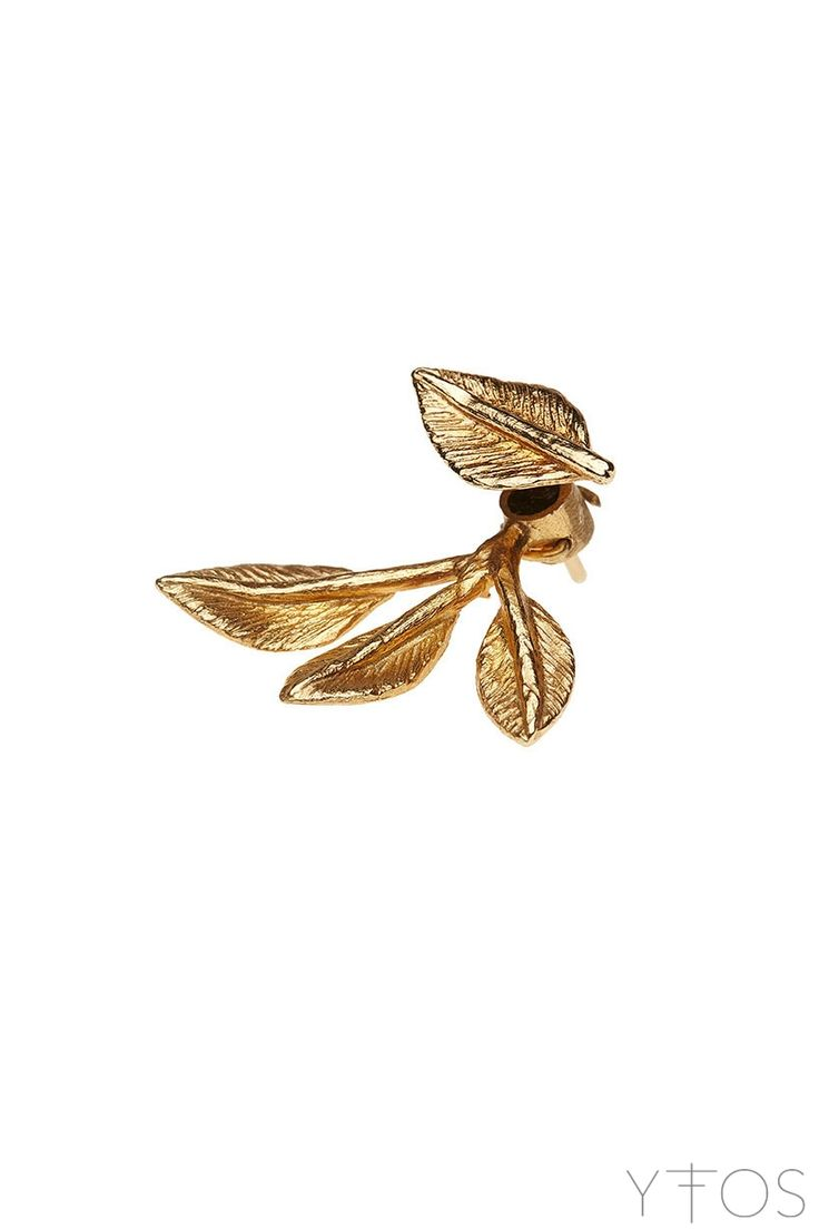 'Poem' Gold Plated Earring - Maggoosh Jewelry