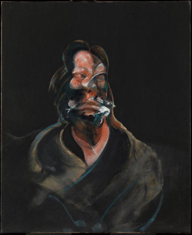 Francis Bacon. 'Portrait of Isabel Rawsthorne' 1966 francis bacon paintings  plastic arts, visual arts, fine arts, art, black