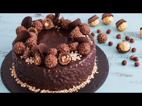 Ferrero Rocher Cake - 4k video - YouTube