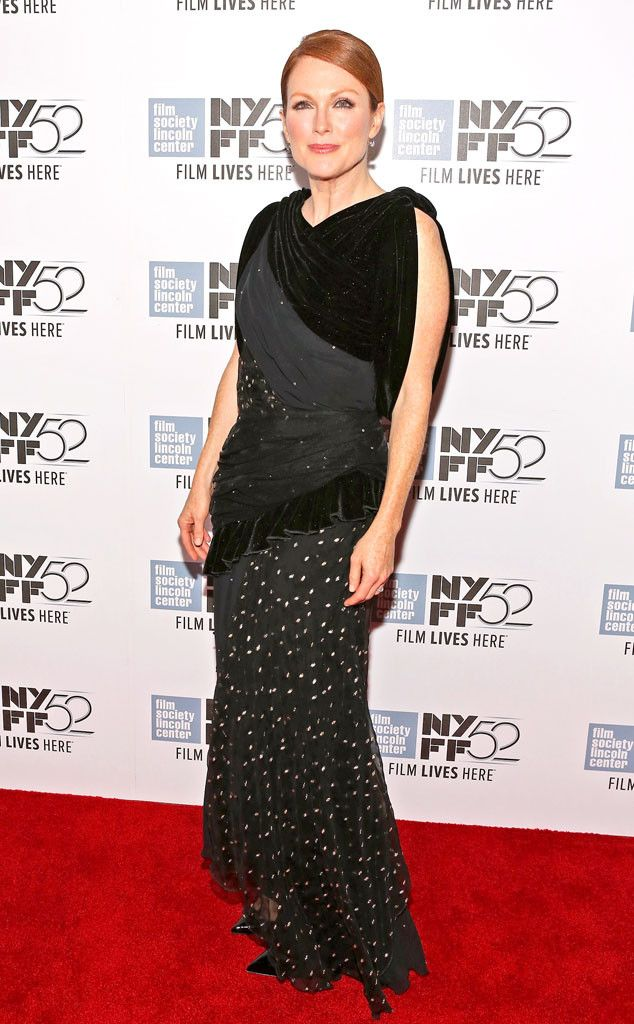 Hot Mess Alert! Julianne Moore's Eight Fabric Fashion Fail—See the Pic! on Fashion Police | E! Online