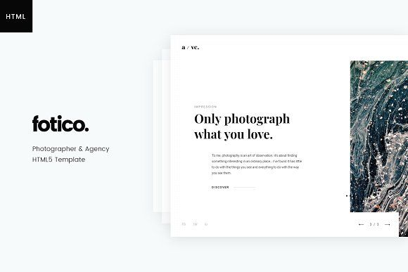 Fotico Photography Html Template Fotico Is A Trendy
