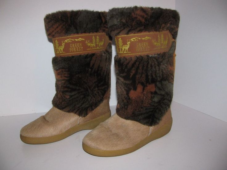 Oscar Sport TAIGA Brown Boots-Made in Italy Size 7.5 M Winter Snow Ski Goat Hair #OscarSportTaiga #SnowWinterBoots #Casual