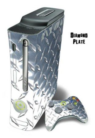 Xbox 360 Skin - System Console Skin and two Xbox 360 Controller Skins - Diamond Plate $19.99 Your #1 Source for Video Games, Consoles & Accessories! Multicitygames.com