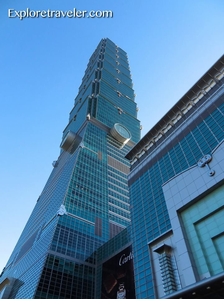 Taipei 101 in Taiwan has 101 floors above ground and 5 more underground.