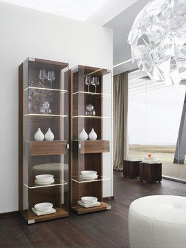 Nox Walnut Modern Display Cabinets - modern - buffets and sideboards - london - Wharfside