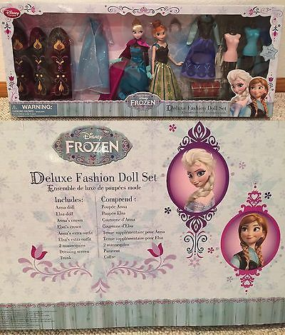 Disney Princesses 146030: Disney Store Frozen Elsa And Anna Deluxe Fashion Doll Set - New In Box! -> BUY IT NOW ONLY: $99.99 on eBay!