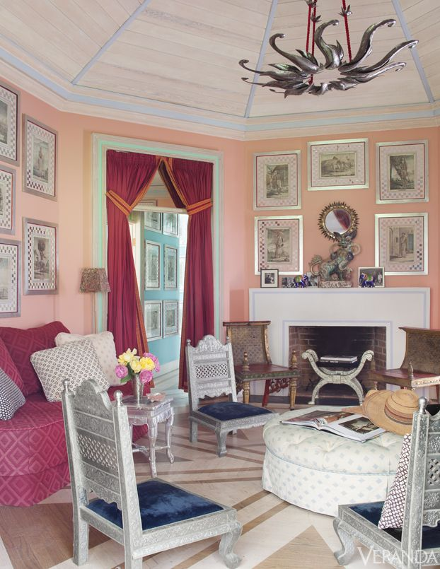 1000 Images About Pink Living Rooms On Pinterest Room David Hicks And Pale