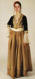 Αστική φορεσιά Καλαμάτας (Αμαλίας) / Urban costume Kalamata (Amalia)
