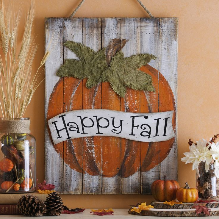 Barnwood, pumpkins, distressed textures, burlap leaves, rope -- the Happy Fall Plaque is full of all our favorite autumn styles. Hang this piece in your entryway to welcome your guests with a happy message!