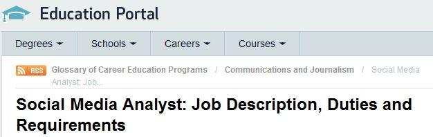 Social Media Job Description Marketing Careers Pinterest Job - social media job description