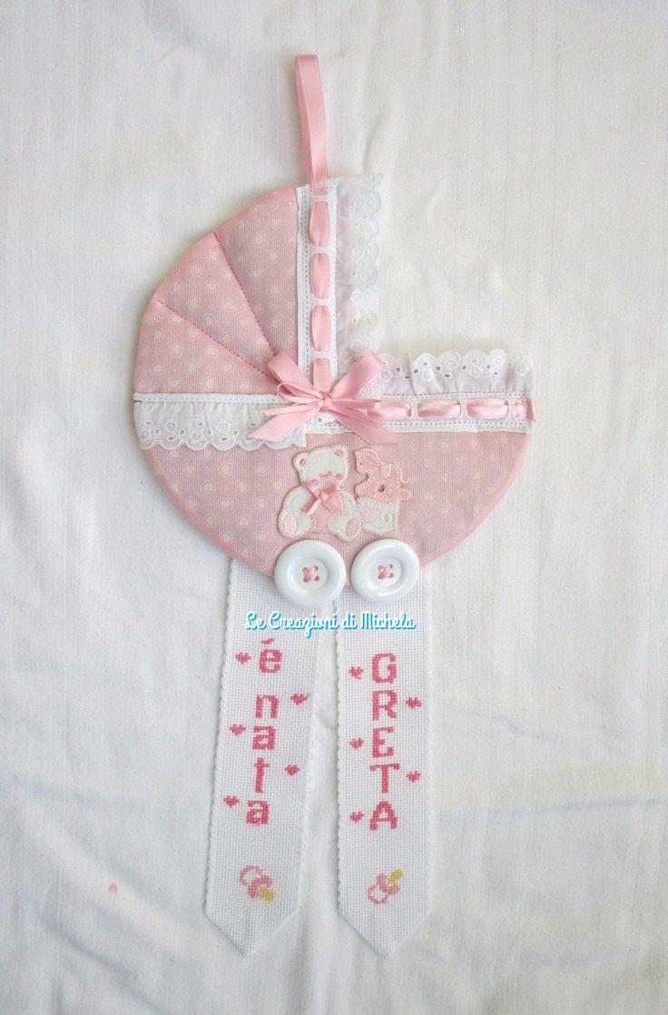 Fiocco carrozzina personalizzata per Greta;  per info: http://lecreazionidimichela.it.gg/home.htm
