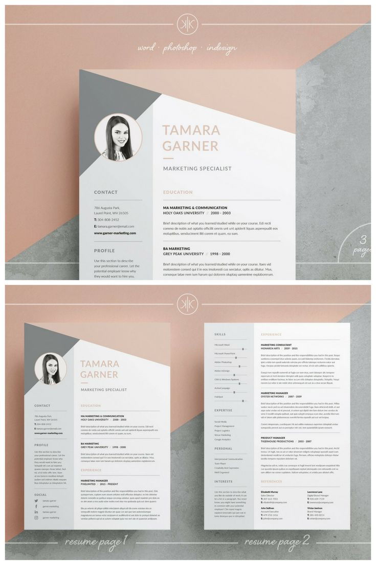 best ideas about marketing resume best resume professional resume cv and cover letter templates our design tamara