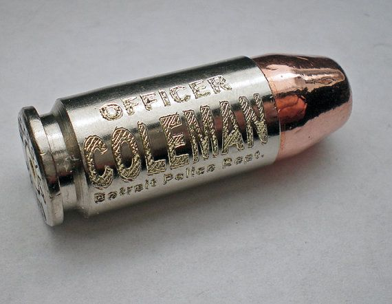 40 S&W Winchester Nickel Commemorative Police Officers Keepsake Bullet Engraved Personalized on Etsy, $15.99