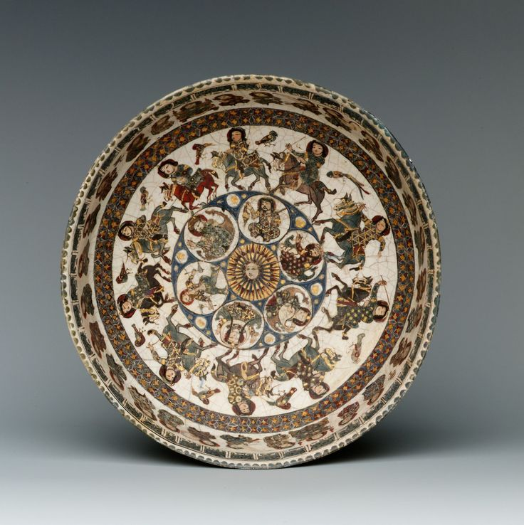 Bowl with astronomical and royal figures, made in Iran in the late 12th-early 13th century