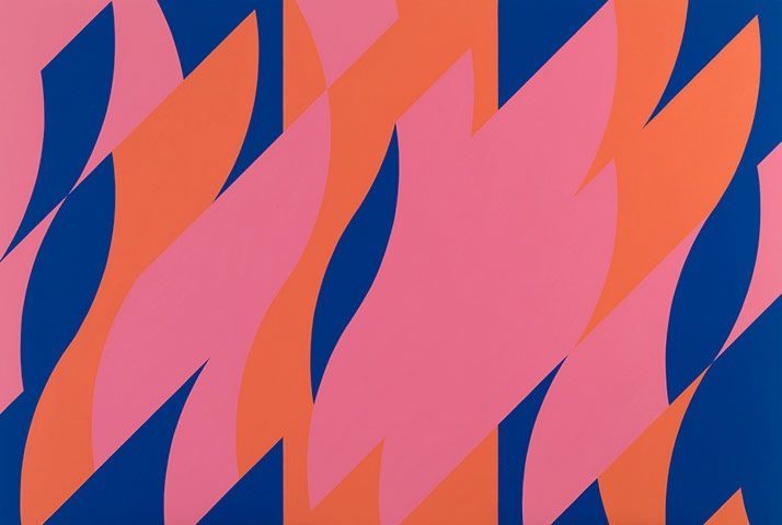 Bridget Riley - groundbreaking as a young artist in the '60s, still going strong today