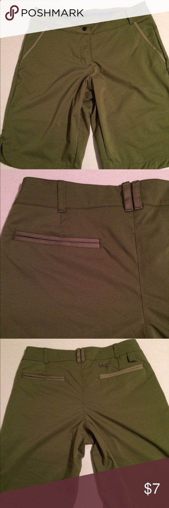VK Sport Womens Golf Shorts Size 6 VK Sport Womens Golf Shorts Size 6. Theres no size tag or material tag. Measurements are waist 29 inches and length 19 inches. In great used condition with minimal wear. No snags, rips, stains or any damage noted. Comes from smoke-free and pet-free home. Thanks for looking 😊 VK Sport Shorts