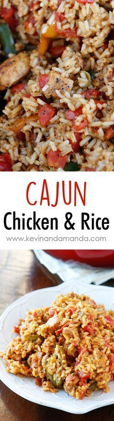 Cajun Chicken & Rice Recipe. Only 6 ingredients. Perfect quick and easy weeknight meal! Great for using up boneless skinless chicken breasts.