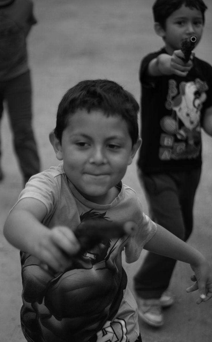 Kids with guns #kidsphotography